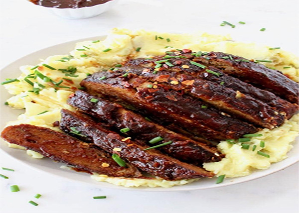 online Grilled tofu-mushrooms-SEITAN RIBS order in pokhara
