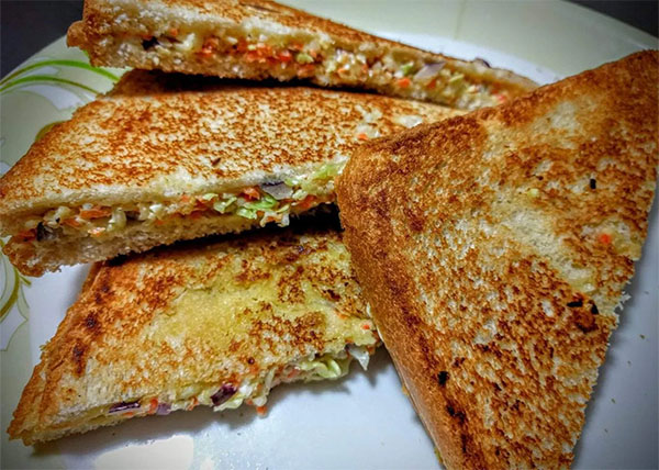online order vegetable Sandwich / Cheese Sandwich