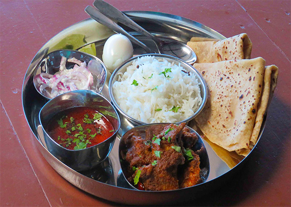 online order Chicken/Fish Thali Set