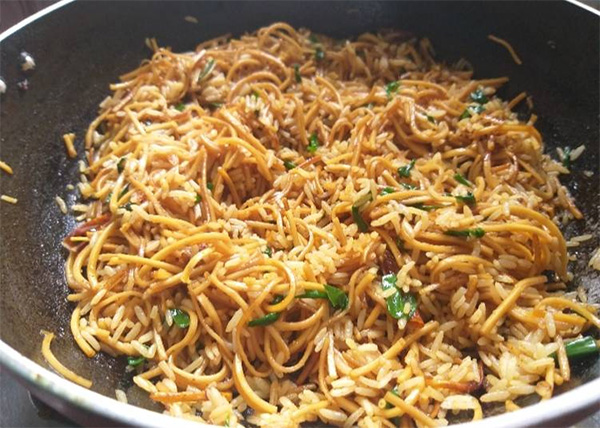 online order Mixed Chowmein with Fried Rice