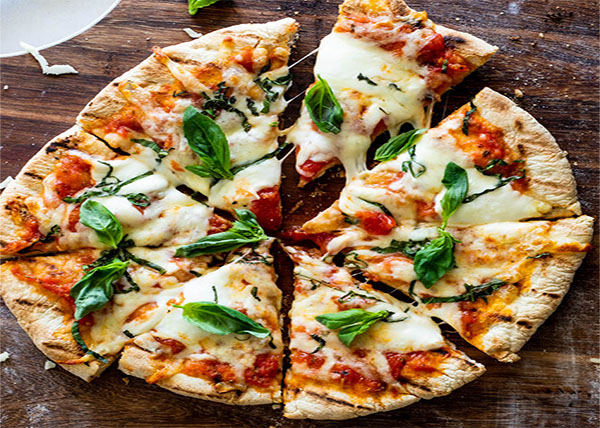 online order Margherita Pizza with Grilled Garlic