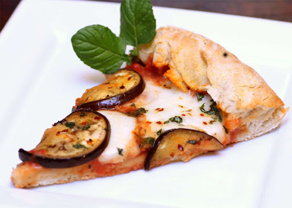 online order Margherita Pizza with Capsium/Egg plant