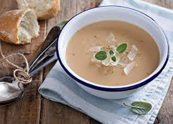 online Roasted Garlic Soup with Parmesan Cheese order in pokhara